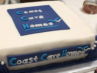 A wonderful cake was made for our charity quiz evening at Coast Home Care, St Leonards on Sea, Sussex.