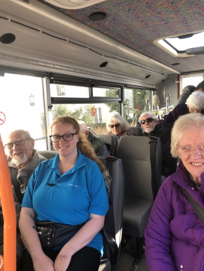 Bus trips are available to all of our residents, day care clients and home care clients two to three times a week from each home. Specialist dementia care, Bexhill on Sea, St Leonards on Sea, Hastings, East Sussex.
