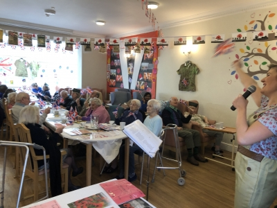Our Coast Home Care Client's enjoys a fun 1940's reminiscing, celebration day held at Whitebeach Residential Care Home, St Leonards on Sea, Hastings, Sussex.