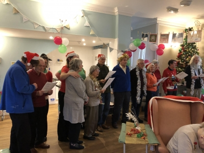Coast Home Care Clients joined residents at Whitebeach residential care home in St Leonards, Hastings at the Christmas Party.