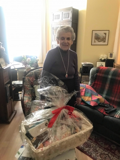 Winner of the Christmas Hamper lucky dip run by Coast Home Care based in St Leonards, Hastings, Sussex.