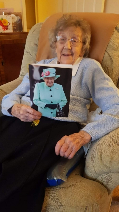 Happy 100th birthday to our home care client from Coast Home Care, St Leonards on Sea, Hastings, Sussex.