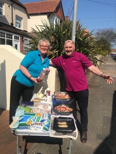 Bacon sandwiches for all Coast Care Staff, St Leonards on Sea, Bexhill on Sea, Sussex